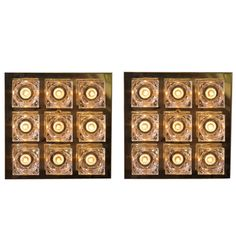 Pair Of Large Gaetano Sciolari Ceiling / Sconce Wall Lamps In Brass And Glass | From a unique collection of antique and modern wall lights and sconces at https://www.1stdibs.com/furniture/lighting/sconces-wall-lights/