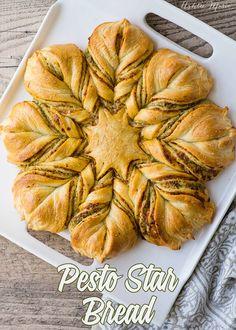 an easy to make pesto star bread - video tutorial