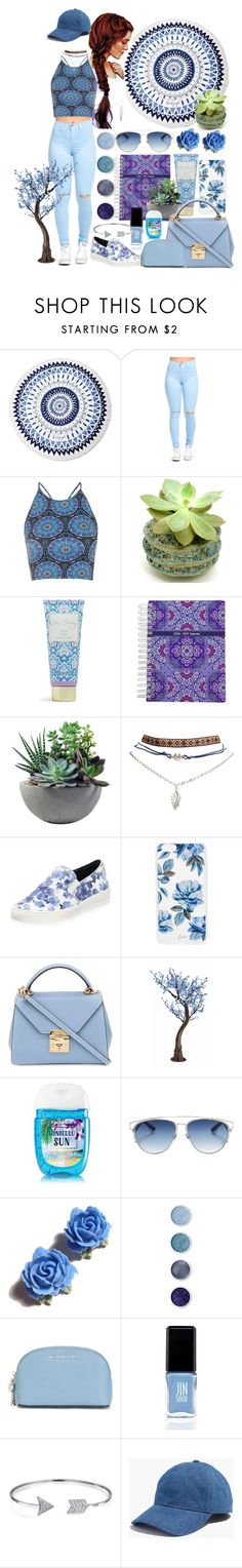 """blue set"" by anoo17k ❤ liked on Polyvore featuring The Beach People, Topshop, Vera Bradley, Rough Fusion, Wet Seal, MICHAEL Michael Kors, Sonix, Mark Cross, Christian Dior and Tarina Tarantino"