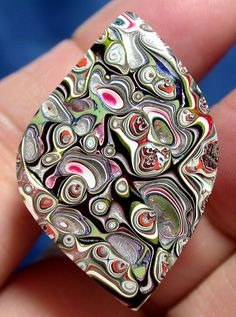 Solid Detroit Agate / Fordite Cabochon   MOTOWN SWIRL by suzybones
