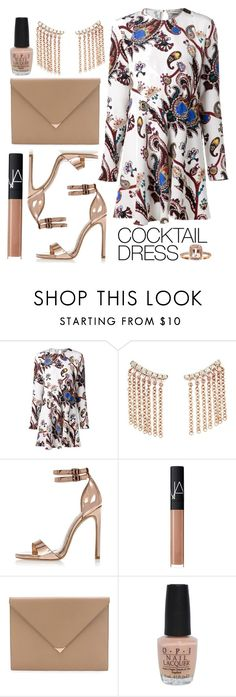 """How to wear a coctail dress"" by anchilly23 ❤ liked on Polyvore featuring Mary Katrantzou, Bloomingdale's, River Island, NARS Cosmetics, Alexander Wang, OPI and Anika and August"