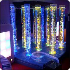 Use Acrylic Mirrors behind bubble tubes to create amazing stimulating visual effects!