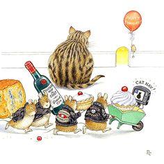 Не так уж много зверей используют художники для создания милых открыток и иллюстраций. Самым большим успехом, конечно, пользуются мишки и кролики, кошки и мышки. Вот, как раз, про мышек мне и хочется вам рассказать. Стоило только заинтересоваться и сразу же обнаружилось огромное количество художников, рисующих мышей. От знаменитых иллюстраций Б. Поттер до малоизвестных авторов – тысячи изображений мышек заполняют Интернет.