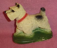 Vintage Chalkware Spotted Scotty Dog Figure Collectible | eBay
