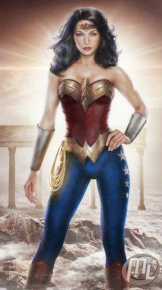 Wonder Woman as Gal Gadot by Maryneim Wonder Woman as Gal Gadot in DC Comics, Wonder Woman 77 Comments Wonder Woman Art, Wonder Woman Movie, Wonder Women, Dc Comics, Comics Girls, Hq Dc, Hq Marvel, Women Poster, Lynda Carter
