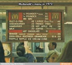 Funny pictures about Mcdonald's Old Menu Was A Bit Different. Oh, and cool pics about Mcdonald's Old Menu Was A Bit Different. Also, Mcdonald's Old Menu Was A Bit Different photos. Photo Vintage, Vintage Ads, Vintage Stuff, Vintage Food, Vintage Classics, Vintage Movies, Vintage Items, Sweet Memories, Childhood Memories