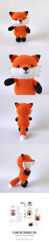 Flynn The Friendly Fox Amigurumi Pattern