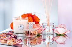 KITA Fragrances perfume, luxury perfumed candle and perfume reed diffuser.