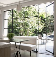 Things that inspire: steel windows and doors interior exterior, interior architecture, interior design House Styles, Floor To Ceiling Windows, House Design, Interior, New Homes, Steel Windows, Home Decor, House Interior, Interior Architecture