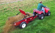 Millcreek's Compact manure spreaders can be towed by a lawn & garden tractor, ATV or a utility vehicle. #horse #barn #manure