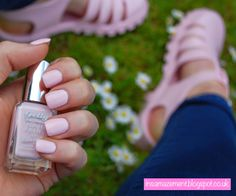Pastel Pink Jelly Shoes and Nails