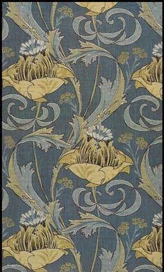 "Beautiful Harry Napper fabric design ""Kimberley"" from Art Nouveau design at its best. Motifs Art Nouveau, Art Nouveau Design, Art Design, Studio Design, Textile Patterns, Textile Design, Fabric Design, Print Patterns, Floral Patterns"