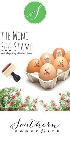 This mini chicken egg stamper is a great way to personalize your eggs and makes a thoughtful gift for the chicken lover or homesteader in your life.