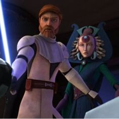 Obi-Wan Kenobi and Satine Kryze. :) Wars I think I did go down with this ship. Like seriously. How on earth can anyone not ship this? Oh, and also, I want an Obi-Wan ^_^ Star Wars Rebels, Star Wars Clone Wars, Star Wars Art, Star Trek, Satine And Obi Wan, Duchess Satine, Satine Kryze, Alec Guinness, Star Wars Personajes