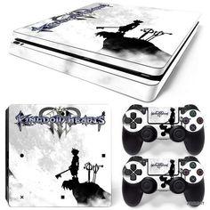 PS4 Slim Playstation 4 Console Skin Decal Sticker Kingdom Hearts Custom Design #ZoomHit