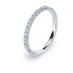 Eternity Band White Gold Wedding Ring Band Female White Gold