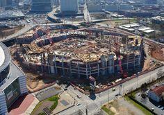 March 2015 New Atlanta Stadium Aerial Photos. For more photos: http://atlfal.co.nz/19QNbSn