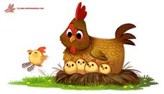Daily Paint #1216. Spring Chicken by Cryptid-Creations.deviantart.com on @DeviantArt