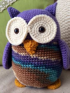 Crocheted Owl Stuffed Animal by WendyAnnBoutique on Etsy