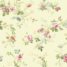 Normandy Manor 33' x 20' Floral Roll Wallpaper