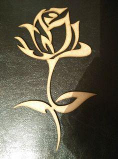 Laser Cut Mdf Rose Shape Blank 20cmx12cm