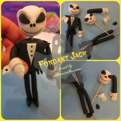 Fondant Jack Skeleton Tutorial