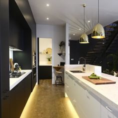We love the beautiful use of texture in this kitchen by Carlene and Michael on The Block Glasshouse.