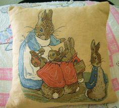 Beatrix Potter Pillow Tapestry