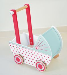 hearts pram- NEW - Indigo Jamm designer toys from a UK based company