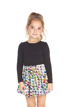 Kids Emoji Skater Skirt!!!!!!!!!