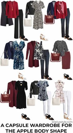 Dressing for the apple body shape can sometimes be a challenge. Here are my tips on how to dress the apple body shape and look fabulous! Apple Body Shape Outfits, Apple Shape Fashion, Dresses For Apple Shape, Dress Apple Shape, Clothes For Apple Shape, Fall Outfits, Fashion Outfits, Womens Fashion, Fashion Tips