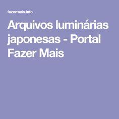 Arquivos luminárias japonesas - Portal Fazer Mais