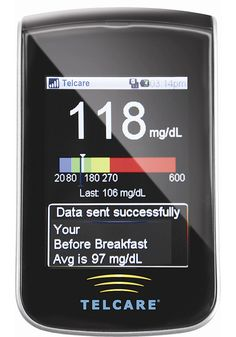 """Telcare BGM blood-glucose meter helps with diabetes care by sending readings directly from the smartphone-sized monitor over T-Mobile's network to an online, Web-accessible database that patients can share with their physicians. Bethesda, Md.-based Telcare says it is the """"world's first"""" cellular-enabled glucometer. An available iPhone app allows for mobile management."""