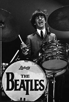 Ringo Starr playing the drums during a 1964 concert at Washington Coliseum George is her fav but I thought Ringo needed some credit. Like he is almost never up front