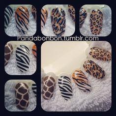 Animal Print Nails by PandaC