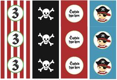 We Heart Parties:  Free Printables Pirate Party Free Printables (Editable!)