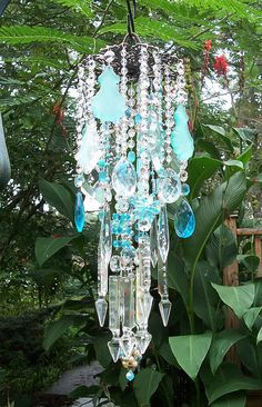 Sea+Antique+Crystal+WInd+Chime+by+sheriscrystals+on+Etsy,+$204,95