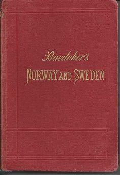 Baedeker's Travel Book Norway Sweden Denmark 1909 by worldvintage