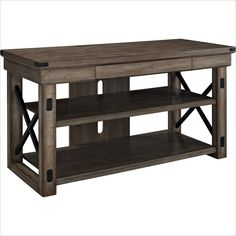 Lowest price online on all Altra Furniture Wildwood Rustic TV Console with Metal Frame - 1735096