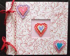 Making Memories Valentine Scrapbook Album Premade 8x8 Hard Cover Pockets 3D