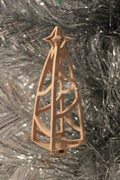 Scrollsaw Pattern: Christmas Tree Ornament by ClaytonsPatterns