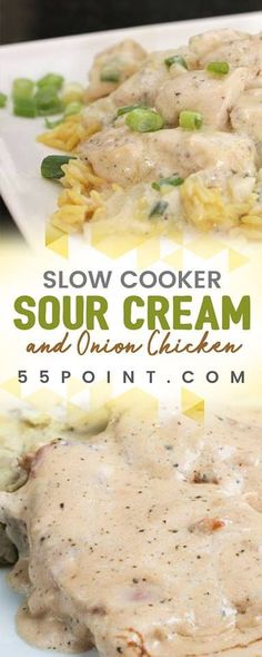 Slow cooker Sour Cream and Onion Chicken