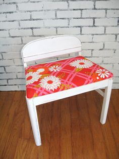 The Joanna Vanity Bench Reserved For Sally By 2bluedogsdesign 125 00 Somewhere On A Boulevard Pinterest And Vanities