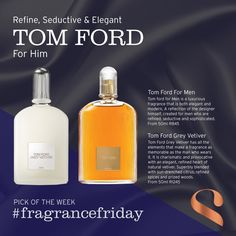 Our pick for is the charismatic and provocative scents for him from Tom Ford for men and Tom Ford Grey Vetiver. Fragrances, Tom Ford, Personal Care, Elegant, Grey, Beauty, Design, Fragrance, Classy