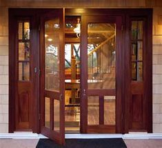 I really want double screen doors instead of my sliding glass patio door. Nothing like a screen door! Double Screen Doors, Wood Screen Door, Wooden Screen, Vintage Doors, Elegant Homes, French Doors, Dutch Doors, Patio Doors, Exterior Doors