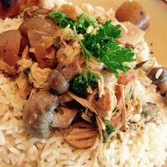 Hähnchen mit Petersilie im Slow Cooker / Ich mach dieses Hähnchengericht immer mit Petersilie, aber man kann auch andere frische Kräuter verwenden.@ http://de.allrecipes.com