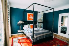 SURF CAMP, dark blue with green undertones paint color by Backdrop. House Painting Tips, Best Bedroom Paint Colors, Canvas Drop Cloths, Paint Samples, Data Sheets, Interior Walls, Surfing, Dark Blue, Plaster Paint