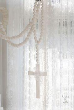 white rosary...