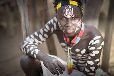 Fierce Karo warrior with body paint, Omo Valley, Ethiopia. (© Sean Caffrey /National Geographic Traveler Photo Contest