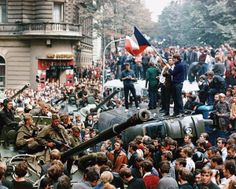 Soviet tanks in Prague in 1968.